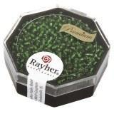 Premium-rocailles. 2.2 mm avec garniture d'argent vert boite 12 g