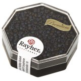 Premium-rocailles. 2.2 mm metallic givr. boite 6 g gris fonc