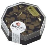 Miyuki-Perle-Tila. metallique 5x5x1.9mm. deux trous ? 0.8 mm cuivr. boite 5 g