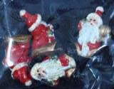 Polyresine Santa, 3 cm, sct.-LS 4 pces