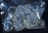 Coeurs acryliques, 3,5+4,5 cm, sct.-LS 6 pces, argent