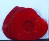 Element nacre Coeurs (pleins/creux), 5x6 cm, sct.-LS 4 pces, rouge
