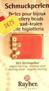 Cube en argent, 4x4 mm, carte-LS 6 pces, argent Sterling 925