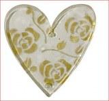 Coeurs acryliques, 3,5+4,5 cm, sct.-LS 6 pces, or