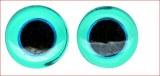 Yeux d'animaux en verre a coudre, sct.-LS 10 pces, bleu clair, 10 mm a¸