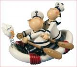 Figurine marins en polyresine: Marine, 11x8x6 cm