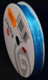Ruban de satin a lisiere, 3 mm, rouleau 10 m, turquoise