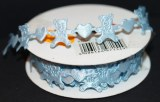 Ruban de satin Oursons, 16 mm, rouleau 5 m, bleu clair