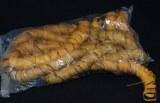 Boucles de raphia, sachet 8 echeveaux a 25 cm, jaune clair