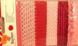 Bordures dentelles, 0,5-1,5 cm, carte-LS 6 types a 90 cm, rose
