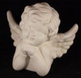 Ange en ceramique, 13,5x7x11 cm, boite 1 pce