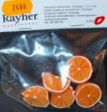 Petits objets en polyresine: Oranges, 2x1 cm, 2 sortes, sct.-LS 5 pces