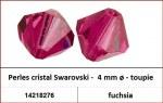 Perles cristal Swarovski -  4 mm a¸ - toupie - fuchsia