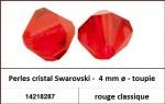 Perles cristal Swarovski -  4 mm a¸ - toupie - rouge classique