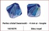 Perles cristal Swarovski -  4 mm a¸ - toupie - bleu royal