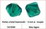 Perles cristal Swarovski -  4 mm a¸ - toupie - bleu lagon