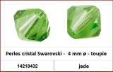 Perles cristal Swarovski -  4 mm a¸ - toupie - jade