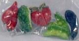Petits objets en polyresine Legumes, 3 cm, sct.-LS 5 pces