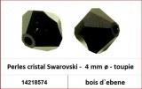 Perles cristal Swarovski -  4 mm a¸ - toupie - bois d`ebene
