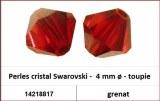 Perles cristal Swarovski -  4 mm a¸ - toupie - grenat
