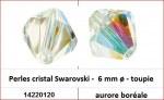 Perles cristal Swarovski -  6 mm a¸ - toupie - aurore boreale