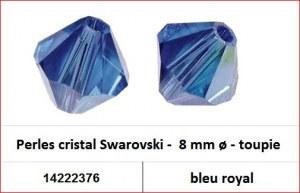 Perles cristal Swarovski -  8 mm a¸ - toupie - bleu royal
