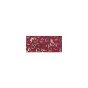 Rocailles. 2.6mm ø. transparentes lustre boîte 17 g rouge vin
