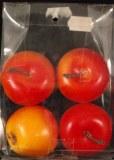 Pommes, 4 cm, boite 4 pces, orange