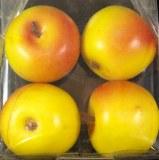 Pommes, 4 cm, boite 4 pces, jaunes