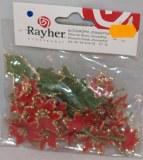 Taªtes de fleurs: Poinsettia, sct.-LS 24 fleurs + 3 feuilles, rouge vin