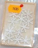Flocon de neige, paillete, 1,5 cm, boite en bois 12 pces